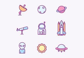 Gratis Outer Space Icons vektor