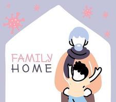 alter Mann und Junge bleiben zu Hause