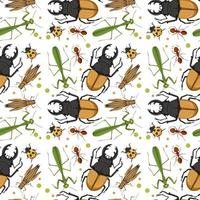 olika insekter mönster