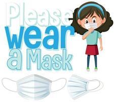 snälla bära maskskylt