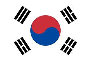 Sydkorea isolerad flagga