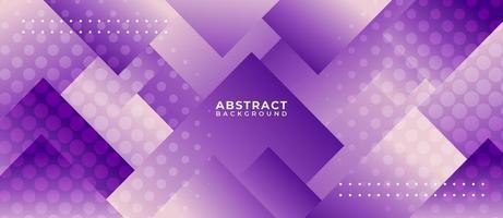geometrischer lila überlappender quadratischer abstrakter Hintergrund vektor