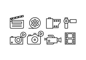 Kinematographie Werkzeugvektoren vektor