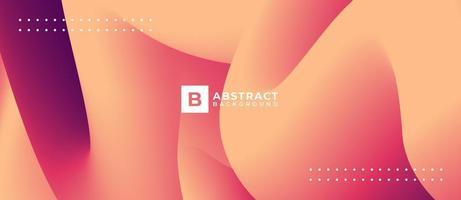 abstrakter Hintergrund der pfirsichfarbenen 3D-Kurve vektor