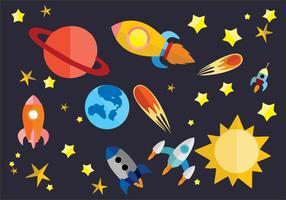 Fri Flat Space Vector Illustration