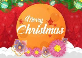 Hintergrund für Weihnachten mit Mond und roter Farbe vektor