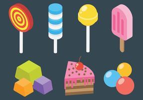 Freie Süßigkeit und Dessert Icons Vector