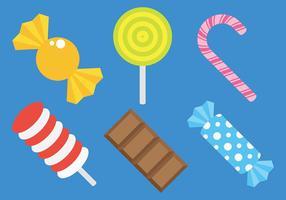 Freie Toffee und Süßigkeiten Icons Vector