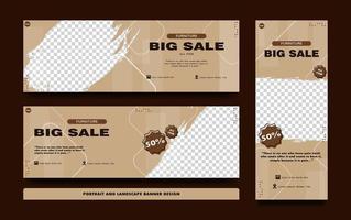 Set Verkauf Banner Vorlagen