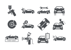 Auto Body Ikoner vektor