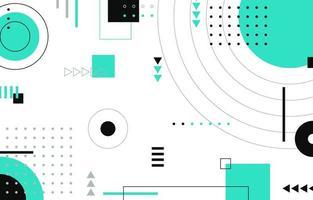 moderner geometrischer Hintergrund mit mintgrünem Akzent vektor