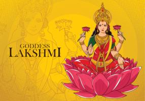 Gudinna Lakshmi Illustration vektor