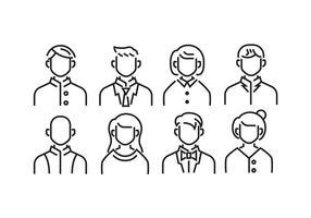 Standard Avatar Headshot ikoner vektor