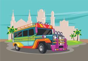 Parkerade Jeepney vektor