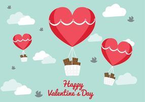 San Valentin vektor ballong bakgrund