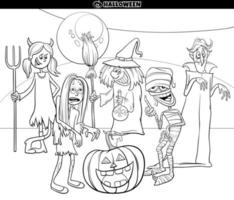 lustige Feiertagskarikatur lustige Charaktere Malbuchseite