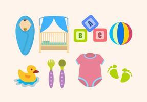 Flache Baby wichtiger Vektoren
