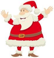 Weihnachtsmann-Zeichentrickfilmfigur, die Weihnachtszeit feiert vektor