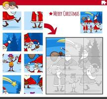 Puzzle-Spiel mit Santa-Charakteren