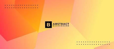 abstrakter geometrischer Formgradientorangenhintergrund vektor