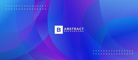 blauer lila überlappender Kreis abstrakter Hintergrund vektor