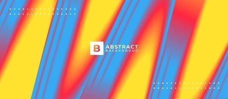 abstrakter blauer gelber Neonmischungsform mehrfarbiger Hintergrund vektor