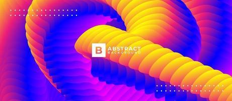 abstrakter Hintergrund der mehrfarbigen gekrümmten Form vektor