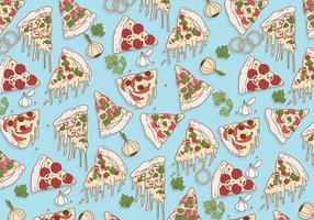 Pizza-Muster-Vektor vektor