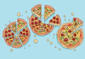 pizza vektorer