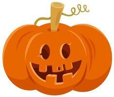 tecknad halloween jack o lanternpumpa vektor