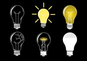 Glühende Ampoule Vector