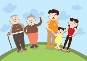 Multi-Generations-Familia Vektor