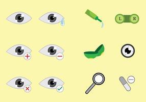 Optometry Ikoner Vektorer