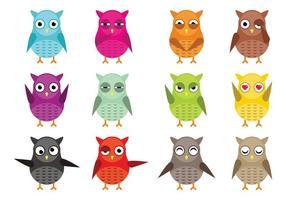 Owl Vektor-Zeichen Vektor-Pack vektor