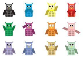 Cute Owl Charakter Vektoren