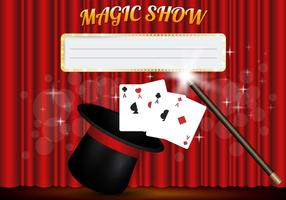 Magic Show Template Vector