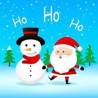 jultomten och snömannskaraktär