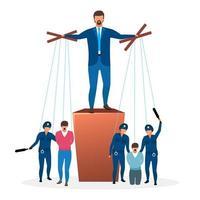 flache Vektorillustration des totalitären Regimes. Metapher des politischen Systems.