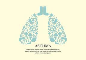 Asthma Mittel Vektor Hintergrund
