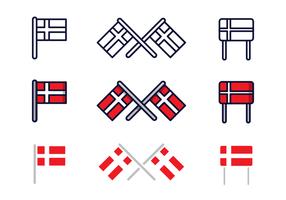 Freie dänische Flagge Vektor