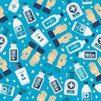 handdesinfektionsmedel, alkoholflaska för sömlösa mönster för hygien