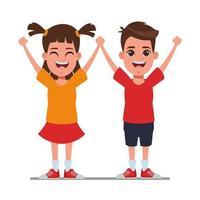 glada barn tecknad vektor