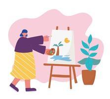 ung kvinna målning