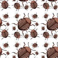 nahtloser Hintergrund des Käferinsekts vektor
