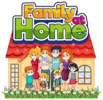 glückliche Familie bleiben zu Hause vektor