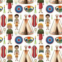 ethnische Leute der afrikanischen Stämme Muster vektor