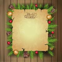 Frohe Weihnachten, leere Grußschablone vektor