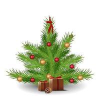Weihnachtsbaum mit Geschenken vektor
