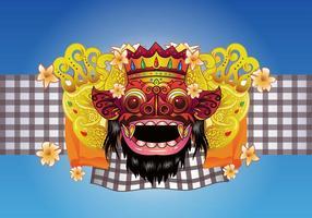 Barong Bali Vektor Hintergrund