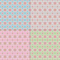 Pastell Schneeflockenmuster vektor